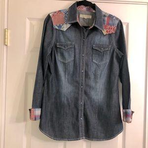 Stetson Dark Denim Western Shirt Medium